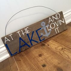 A personal favorite from my Etsy shop https://www.etsy.com/listing/466059153/at-the-lake-and-lovin-it-naturally