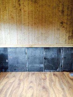 Gentil Reclaimed Tin On Bottom Half Of Wall. Itu0027s Chair Rail Height. Itu0027s On Both