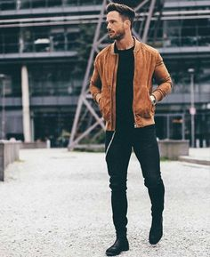 Men's Jackets For Every Occasion. Photo by Menswear Market Jackets are a must-have in the cold weather but it can also be used to accessorize an outfit. Men Looks, Mode Outfits, Casual Outfits, Stylish Men, Men Casual, Der Gentleman, Style Masculin, Men Street, Mode Style
