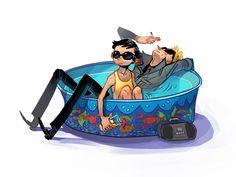 pool party by Kichaa on deviantART