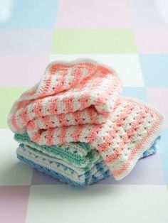 Grab two skeins of your favorite Caron yarn to make this Simply Stripes Baby Blanket. Crochet blankets always made a great homemade gift idea for baby showers, so be sure to keep this free crochet afghan pattern in mind.