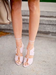 Pink laced heels
