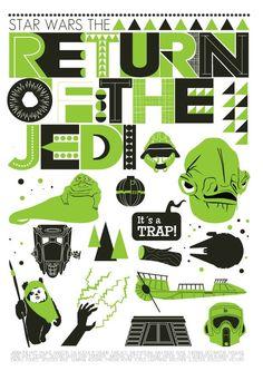 Retro Star Wars posters by Czech illustrator Jan Skácelík aka Handz