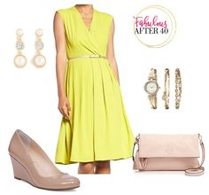 Accessorize canary yellow dress