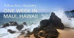 Adventure Itinerary: One Week in Maui, Hawaii #wanderlust #travel #guide