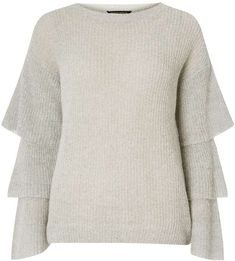 Grey Fluted Sleeve Jumper. Jumper sweater fashions. I'm an affiliate marketer. When you click on a link or buy from the retailer, I earn a commission.
