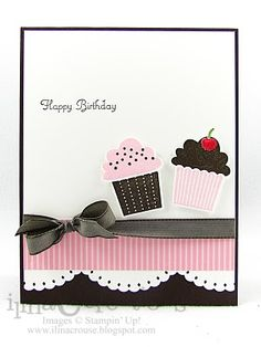 stampin up cupcake builder punch card:  I have a cupcake punch that could work with this card