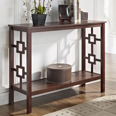 Espresso Square Design Console Sofa Table   Overstock.com Shopping - Great Deals on Coffee, Sofa & End Tables