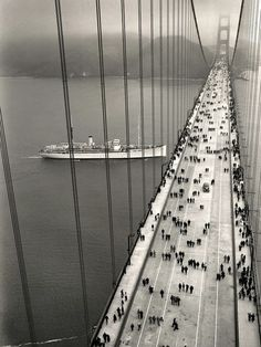The Golden Gate Bridge opened on May 27, 1937 - From Golden Gate Bridge District.