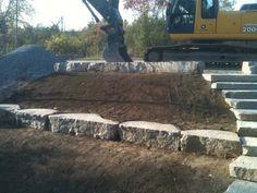 stone retaining wall design | kawartha stone works armour stone retaining walls gallery