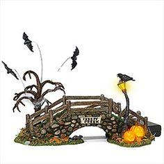 "Department 56: General Village Halloween - ""Creepy Creek Bridge"" - #56.53071 - $35.00 - Intro Dec 2002 - Retired Dec 2006"