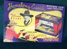 Hopalong Cassidy Auto Magic Picture Gun and Theatre~~