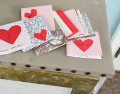A handmade valentine craft - 14 days of valentines for your sweetheart.