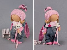 Soft doll Winter doll Tilda doll Interior por AnnKirillartPlace