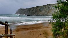 Getxo costa, playa de Arrigunaga en noviembre de 2014.