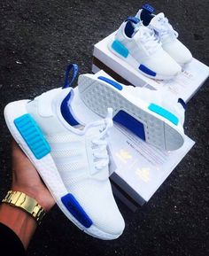 2f0fe2a7e757 Adidas Women Shoes - Adidas NMD White Blue Glow - We reveal the news in sneakers  for spring summer 2017