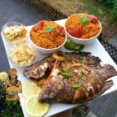 Ghanaian fish. Yum.