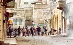 Première Intifada, 12 décembre 1987. La photo Peter Stepan.