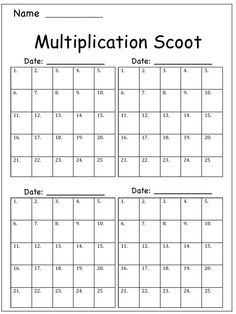 Adventures of Ms. Smith: Multiplication Scoot (Freebie!)- Sounds like a good idea.