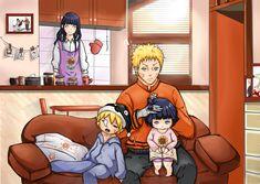 Naruto, Hinata, Bolt and Himawari Uzumaki Family, Naruto Family, Boruto Naruto Next Generations, Yamanaka Inojin, Uzumaki Boruto, Naruhina, Naruto Gaiden, Naruto And Hinata, Manga Anime
