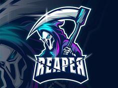 Team Logo Design, Game Design, Design Art, Robot Logo, Ninja Logo, Grim Reaper Art, Esports Logo, Sports Team Logos, Paper Crafts Origami
