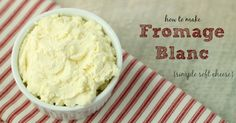 How to Make Fromage Blanc {Raw, Cultured Soft Cheese} (Homemade Cheese Without Rennet) Goat Milk Recipes, Cheese Recipes, Real Food Recipes, Cooking Recipes, Dairy Recipes, Yummy Recipes, Raw Cheese, Fromage Cheese, Slow Cooker