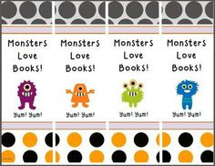 Eek! Little Monster Bookmarks are perfect for October reading rewards or Halloween party favors. Free!