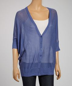 Another great find on #zulily! Blue Burnout Cape-Sleeve Cardigan #zulilyfinds