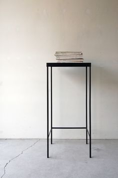 pop-deco:    nautdesign:    130 | 01_Custom made furniture Frame side board : W450 D350 H1,050 / Steel hardening melamine paint    Steel stand
