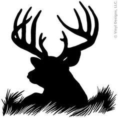 Deer Head Silhouette Buck Hunting Vinyl Wall Decal Sticker Art Home Decor Mural | eBay