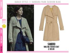 [Spotted] #WeBrokeUp #DARA wearing:  @sandroparis Malena Trench Coat