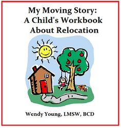 """My Moving Story is a workbook that helps #military kids cope w/ multiple #relocations! Written by an """"all grown up"""" #milfam kid who is now a therapist and had to help her own kids move 3 times! See all of our pins at http://www.pinterest.com/kidlutions"""