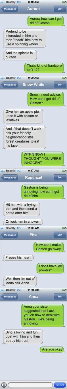 Haha! Poor Belle