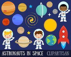 Espacio imágenes prediseñadas / imágenes prediseñadas de planetas / astronauta Clipart Clip Art