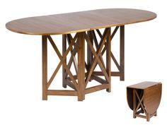 Mesa libro de madera color nogal