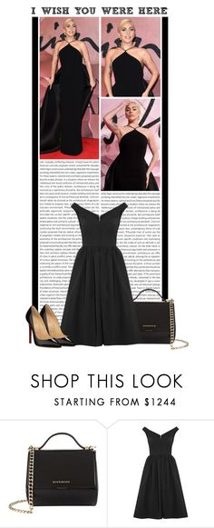"""#813 (Lady Gaga)"" by lauren1993 ❤ liked on Polyvore featuring Oris, Givenchy, Preen and Christian Louboutin"