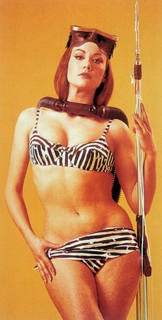 Claudine Auger, Bond Girls, French Actress, Bikinis, Swimwear, Actresses, Film, Retro, How To Wear