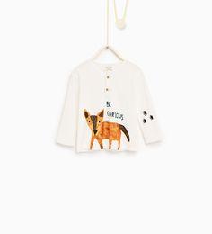 Fox T-shirt-T-SHIRTS-BABY BOY | 3 months-4 years-KIDS | ZARA United Kingdom