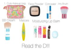 """""""What to put in a Makeup Bag for School!"""" by smileyavenuegirl ❤ liked on Polyvore featuring beauty, Lilly Pulitzer, Maybelline, L'Oréal Paris, Topshop and Burt's Bees"""
