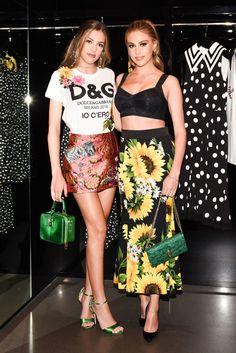 Sophia Stallone and Sistine Stallone both in Dolce & Gabbana