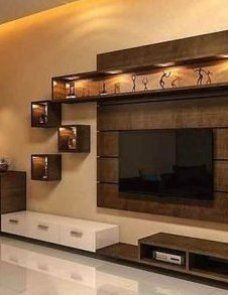 Tv Unit Decor, Tv Wall Decor, Wall Tv, Tv Wall Design, Design Case, Tv Unit Interior Design, Lcd Unit Design, Stand Design, Tv Cabinet Design Modern