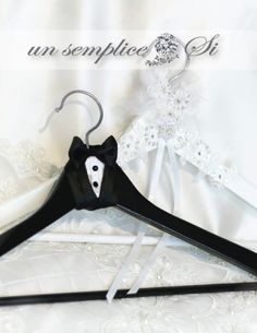 Bride and Groom Wedding Hanger, His and Hers