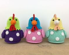 Free chicken crochet pattern by Stip & Haak. For English download, click the button on the right ...
