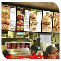 KFC fast food menu board $1~$50