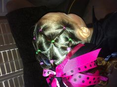Gymnastics meet hair. My mom did this exact same thing when I was in gymnastics