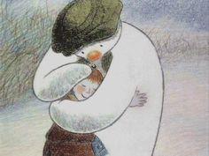 The Snowman ~ Raymond Briggs (for Amelia) New York Christmas, Father Christmas, Retro Christmas, Little Christmas, Christmas Snowman, Christmas Eve, Primitive Christmas, Country Christmas, Christmas Themes