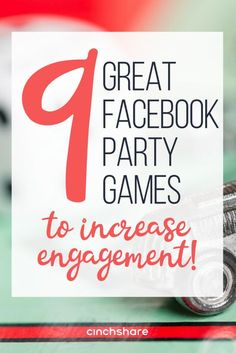 Games aren't just for in-home parties! Throw a fantastic Facebook Party with these great virtual party game ideas that will have your guests playing to win!
