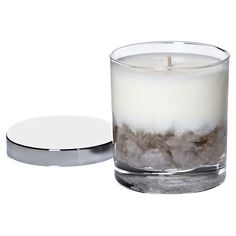 CANDLES AND ROCKS!!  I shouldhave thought of this- LOL.  Rock Bottom Soy Candle in Smokey Quartz