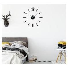 Designové nalepovací hodiny černé barvy - dumdekorace.cz Diy Clock, Cladding, 3d, Design, Home Decor, Decoration Home, Room Decor, Home Interior Design
