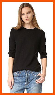 Vince Women's Elbow Sleeve Pullover, Black, Medium - All about women (*Amazon Partner-Link)